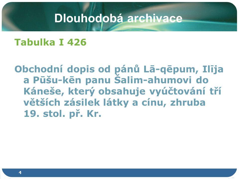 15 Tvorba digitálních sbírek Metadata pro úložiště a standardy Standardy a defacto standardy Dublin Core, METS a PREMIS Kdy, když ne hned?