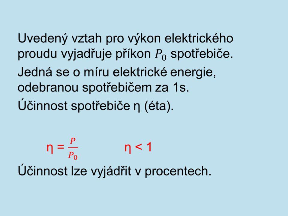 Jednotkou příkonu je watt W.