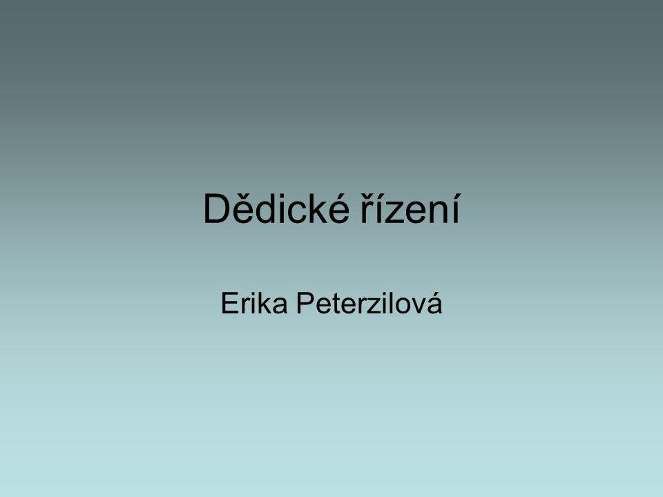 Dědické řízení Erika Peterzilová
