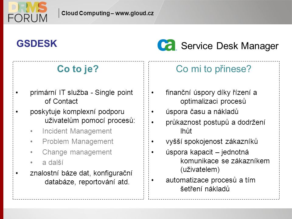 GSDESK Service Desk Manager Co to je.