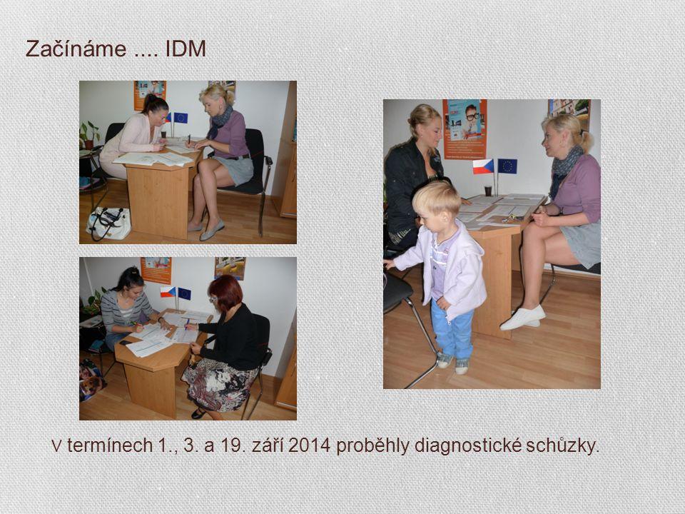 Začínáme.... IDM V termínech 1., 3. a 19. září 2014 proběhly diagnostické schůzky.