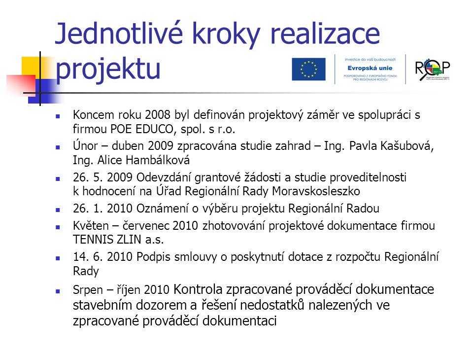 Jednotlivé kroky realizace projektu Koncem roku 2008 byl definován projektový záměr ve spolupráci s firmou POE EDUCO, spol. s r.o. Únor – duben 2009 z