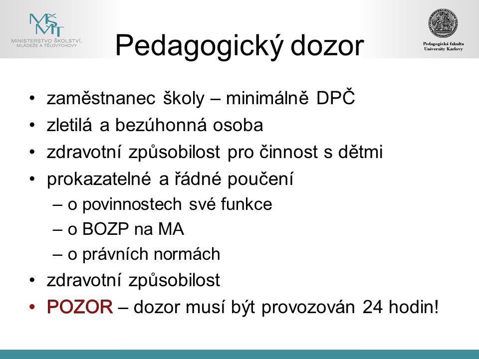 Pedagogický dozor