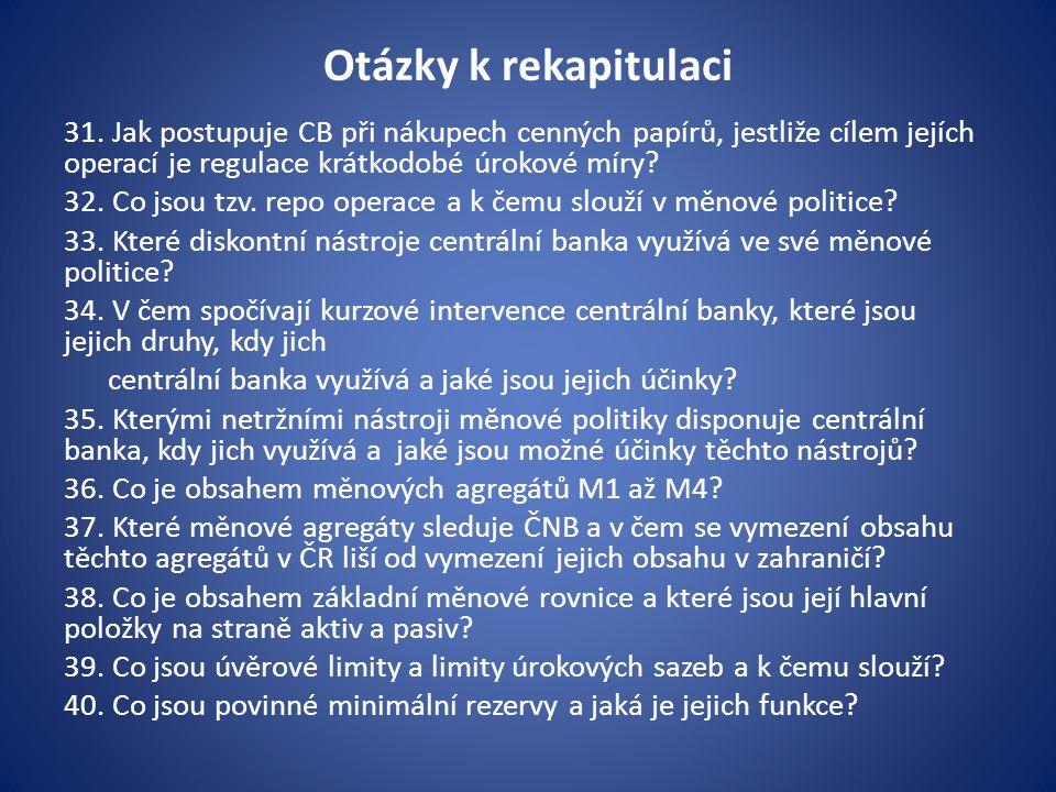 Otázky k rekapitulaci 31.