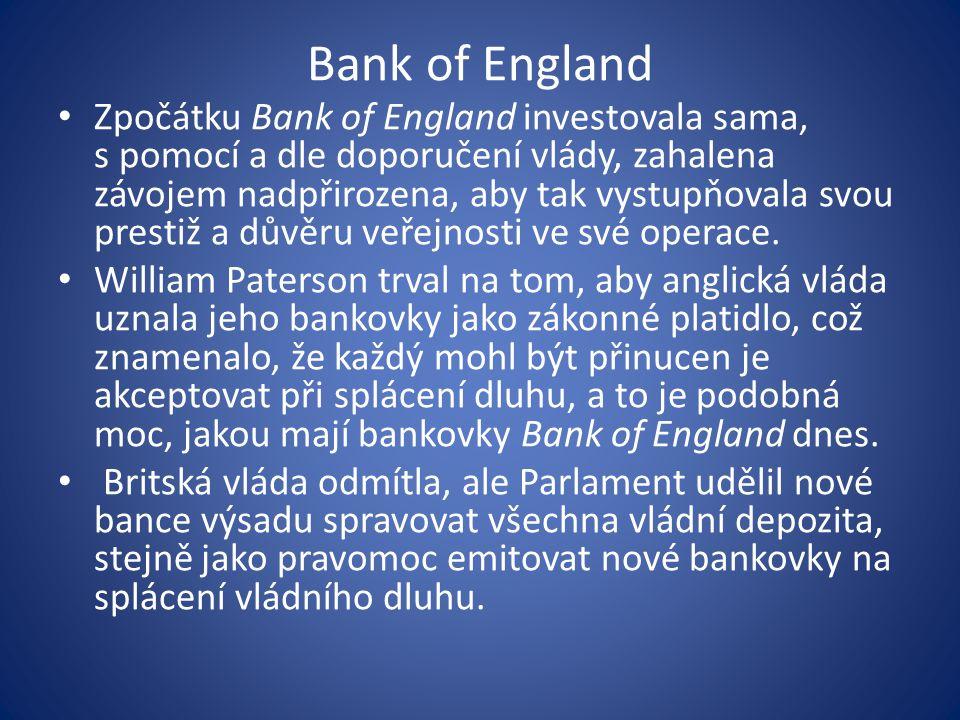 Centrální banka jako banka bank základní činnosti: 1.