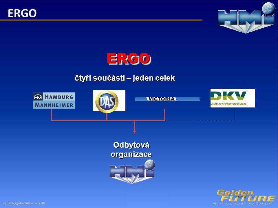 ERGOERGO čtyři součásti – jeden celek Odbytová organizace Verze 04/2004 ERGO
