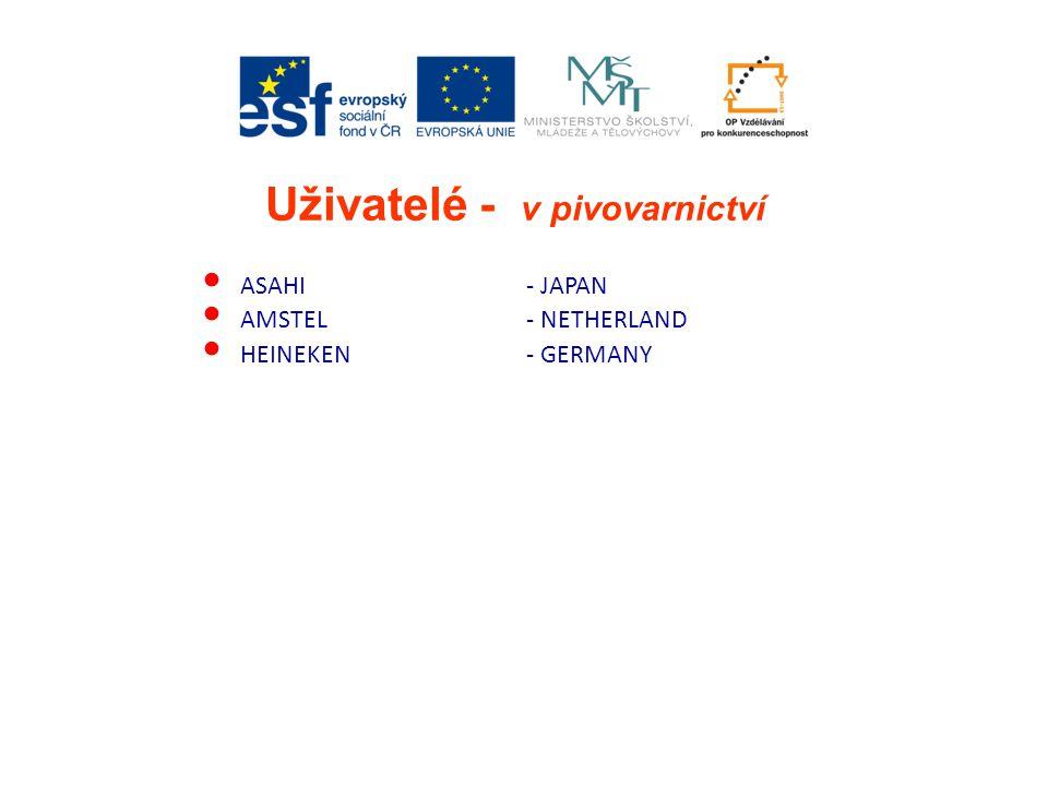- JAPAN - NETHERLAND - GERMANY ASAHI AMSTEL HEINEKEN Uživatelé - v pivovarnictví