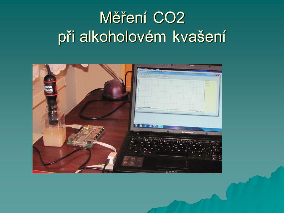Měření CO2 při alkoholovém kvašení