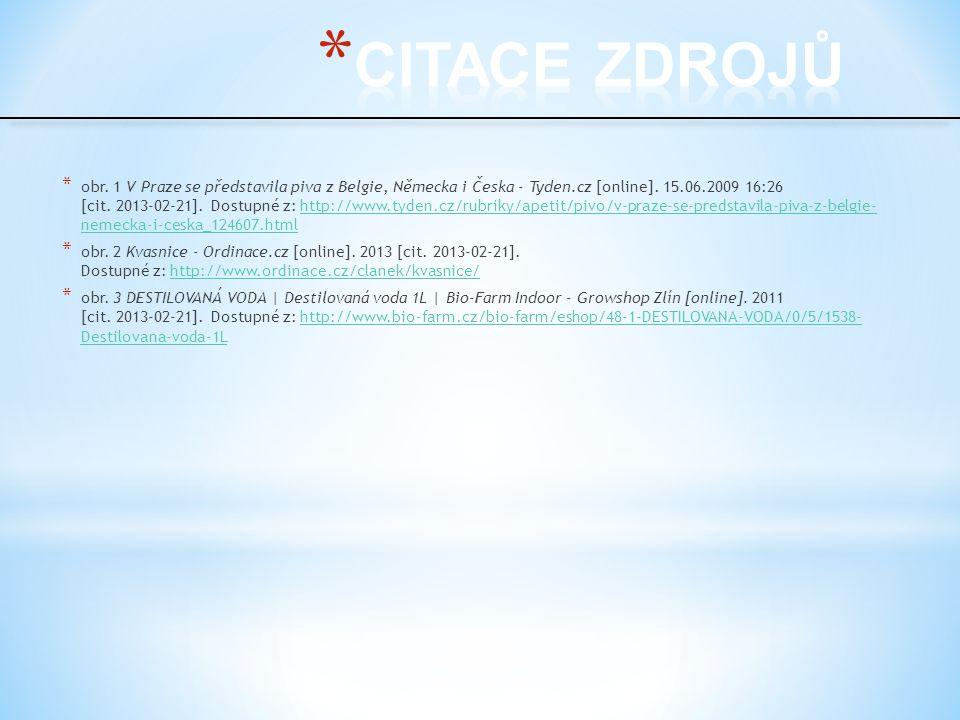 * obr. 1 V Praze se představila piva z Belgie, Německa i Česka - Tyden.cz [online]. 15.06.2009 16:26 [cit. 2013-02-21]. Dostupné z: http://www.tyden.c