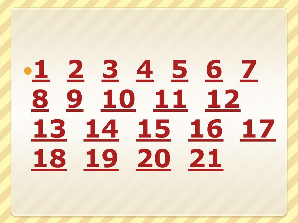 1 2 3 4 5 6 7 8 9 10 11 12 13 14 15 16 17 18 19 20 21 1234567 89101112 1314151617 18192021