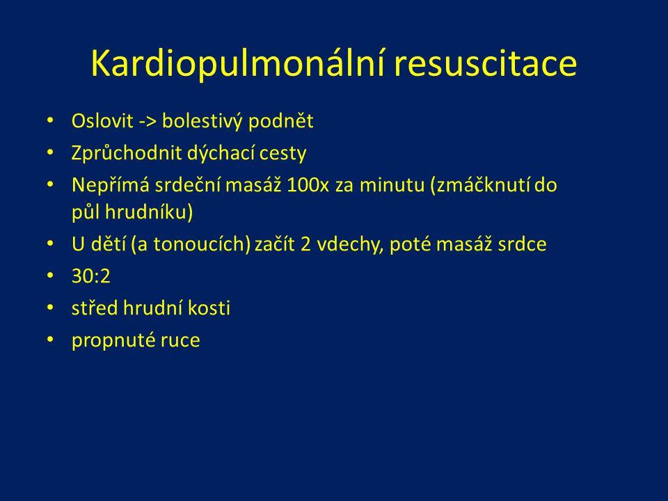 Doporučené vybavení malé lékárny antipyretika, analgetika (Paralen + Ibalgin) antihistaminika (Xyzal, Zyrtec, Zodac..) aktivní uhlí, smecta opthal / opthalmoseptonex dezinfekce (Betadine, Jodisol) peroxid vodíku náplasti s polštářkem náplast bez polštářku (leukoplast) gáza sterilní gáza obvazy elastické obinadlo jehly ušní tampónky rukavice resuscitační rouška izotermická fólie škrtidlo teploměr
