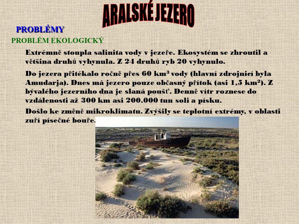 VYSYHÁNÍ ARALU V 60. letech se prudce zvýšila plocha, na které se pěstovala bavlna. Na Amudarje a Syrdarje byly vystavěny přehrady, které zavlažovaly