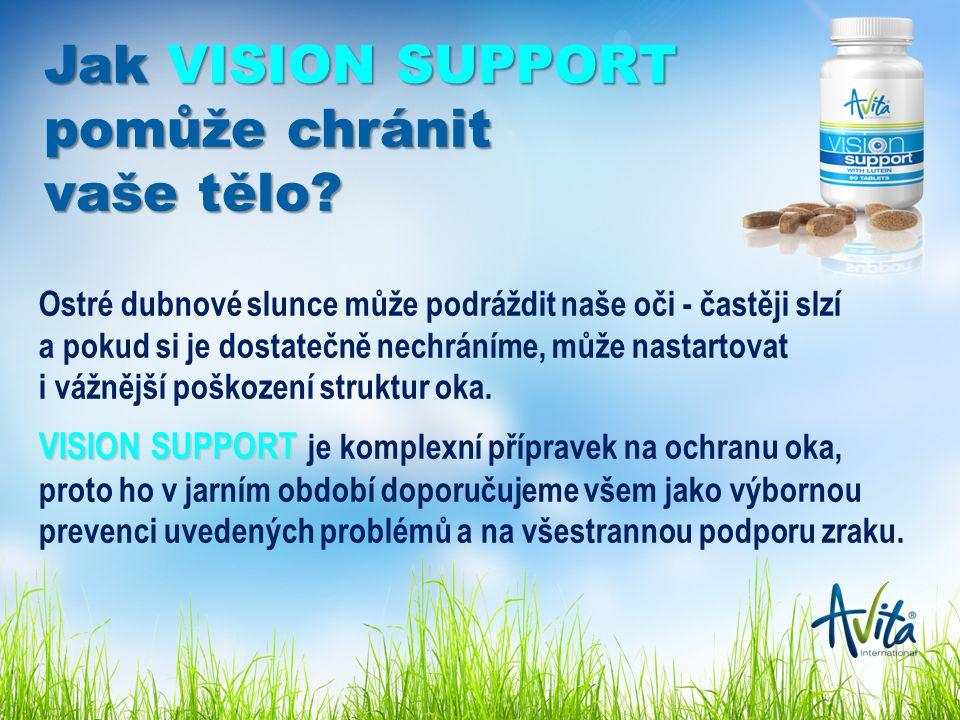 Jak VISION SUPPORT pomůže chránit vaše tělo.
