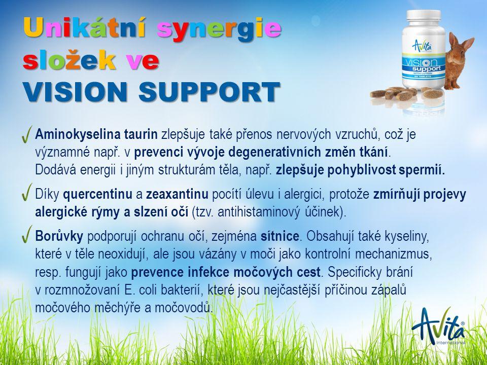 Aminokyselina taurin zlepšuje také přenos nervových vzruchů, což je významné např.