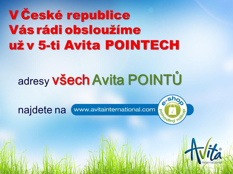 V České republice Vás rádi obsloužíme už v 5-ti Avita POINTECH všechAvita POINTŮ adresy všech Avita POINTŮ najdete na