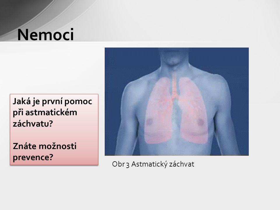 Obr 3 Astmatický záchvat Nemoci Jaká je první pomoc při astmatickém záchvatu.