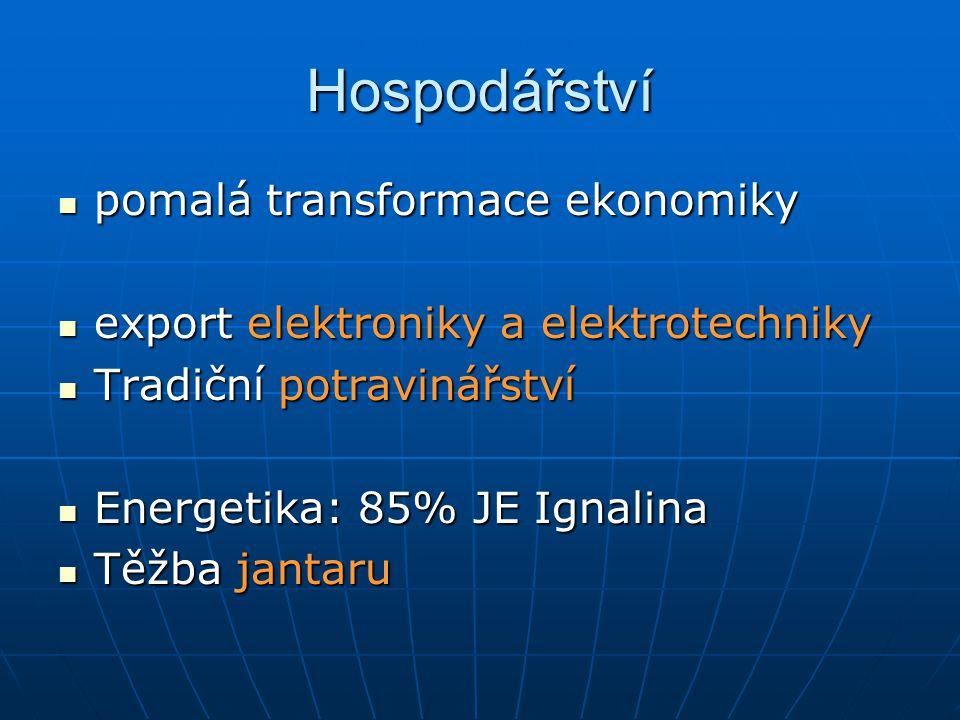 Hospodářství pomalá transformace ekonomiky pomalá transformace ekonomiky export elektroniky a elektrotechniky export elektroniky a elektrotechniky Tra