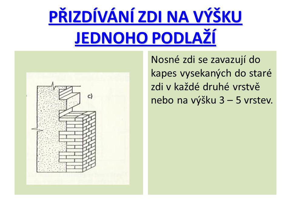 TEMATICKÉ OTÁZKY 1.Jakým způsobem lze omezit sedání nové zdi.