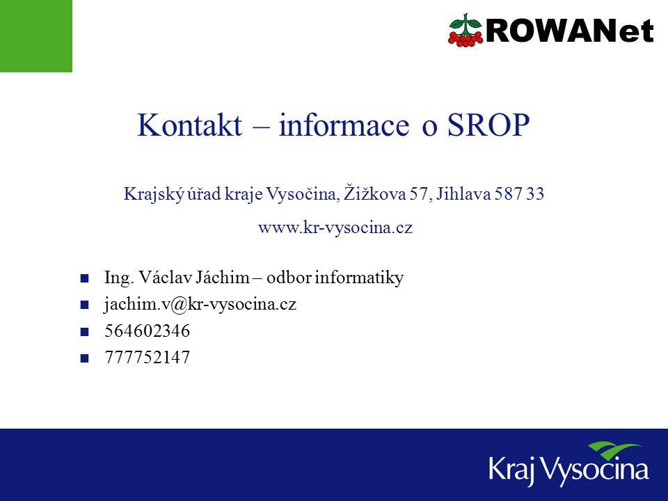 Kontakt – informace o SROP Ing.