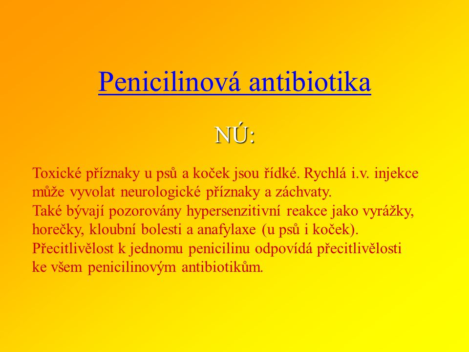 BETA - LAKTÁMOVÁ ANTIBIOTIKA podskupiny a zástupci ve veterinární medicíně II.ŠIROKOSPEKTRÁ AMINOPENICILINY ampicilin, amoxycilin INHIBITORY BETA LAKT