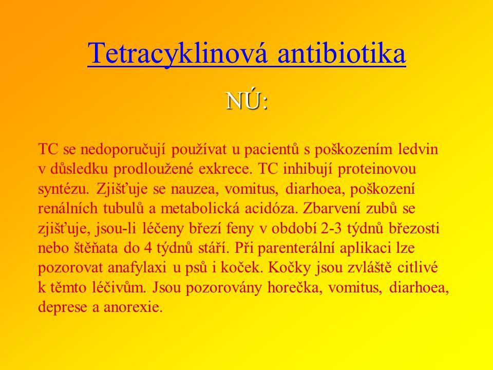 TETRACYKLINY podskupiny a zástupci ve veterinární medicíně TETRACYKLINY ZÁKLADNÍ : tetracyklin chlortetracyklin oxytetracyklin TETRACYKLINY II. genera
