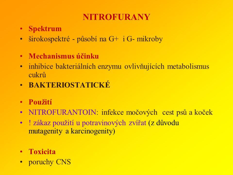 GLYKOPEPTIDY Spektrum úzké : G+ bakterie Mechanismus účinku inhibice syntézy buněčné stěny BAKTERICIDNÍ Rezistence není běžná, ale existují rezistentn