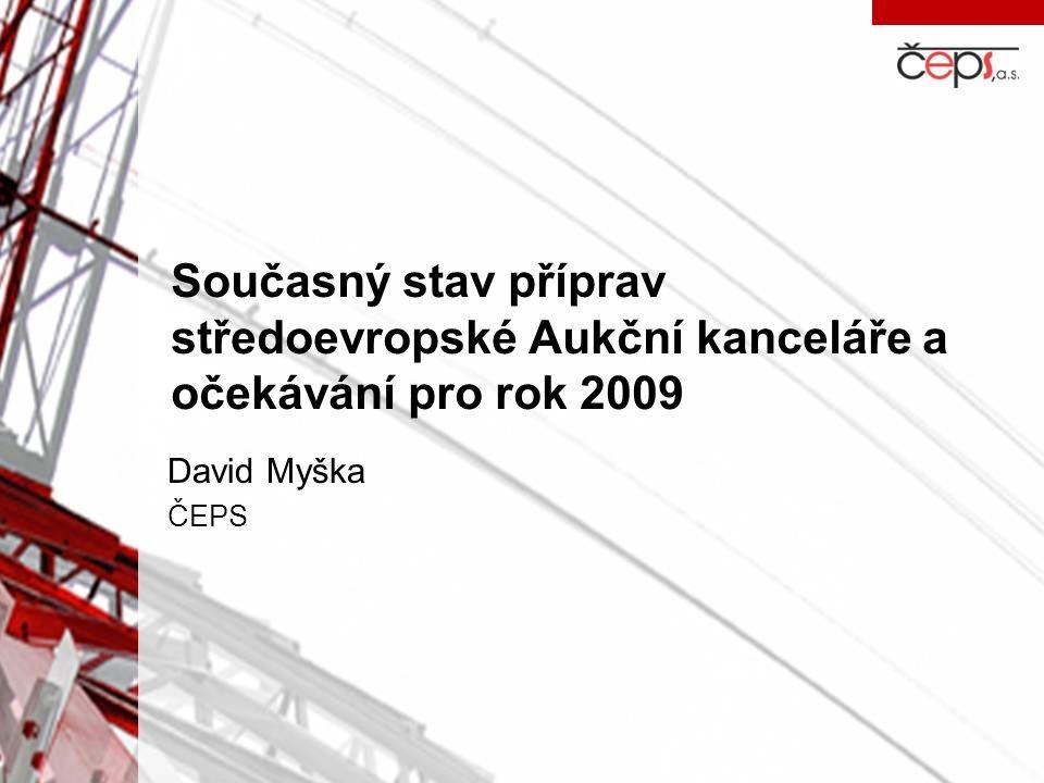 Současný stav příprav středoevropské Aukční kanceláře a očekávání pro rok 2009 David Myška ČEPS