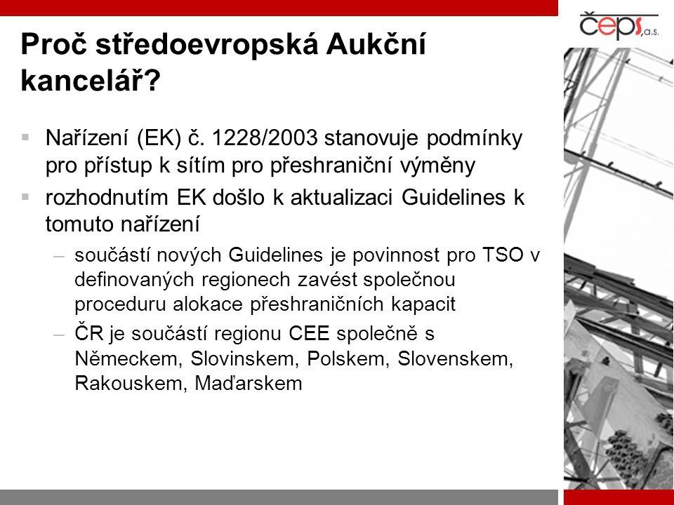 Proč středoevropská Aukční kancelář.  Nařízení (EK) č.