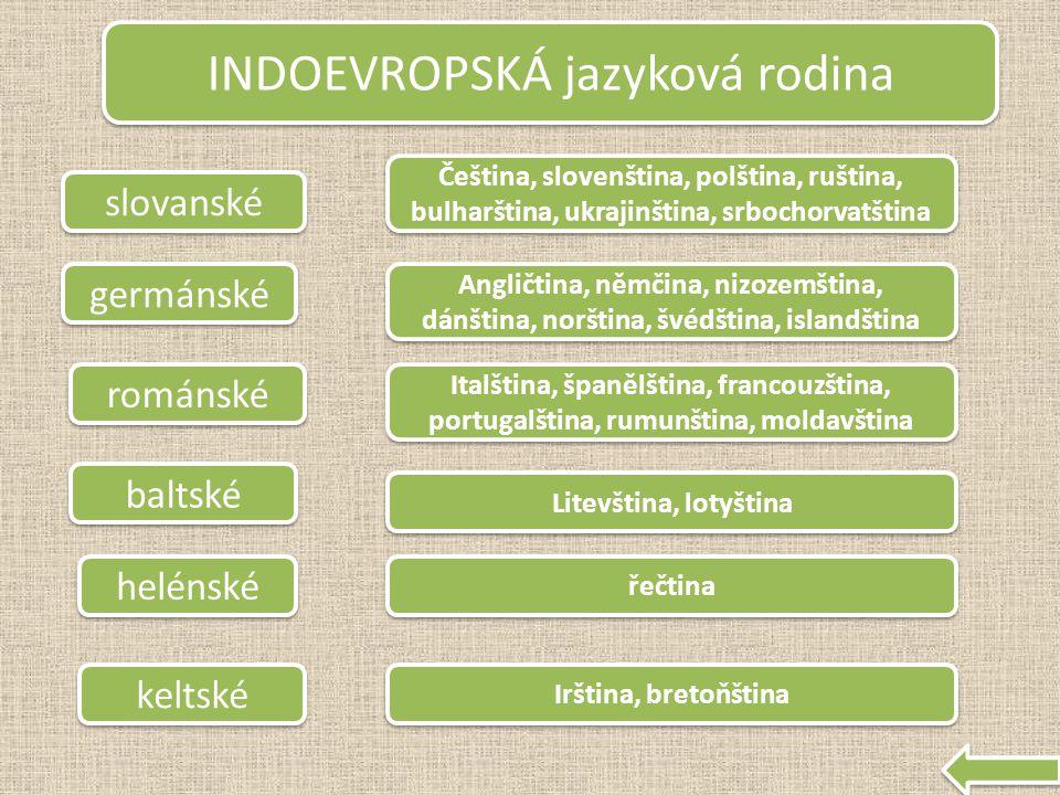 ALTAJSKÁ jazyková rodina ugrofinské Maďarština, finština, estonština, laponština