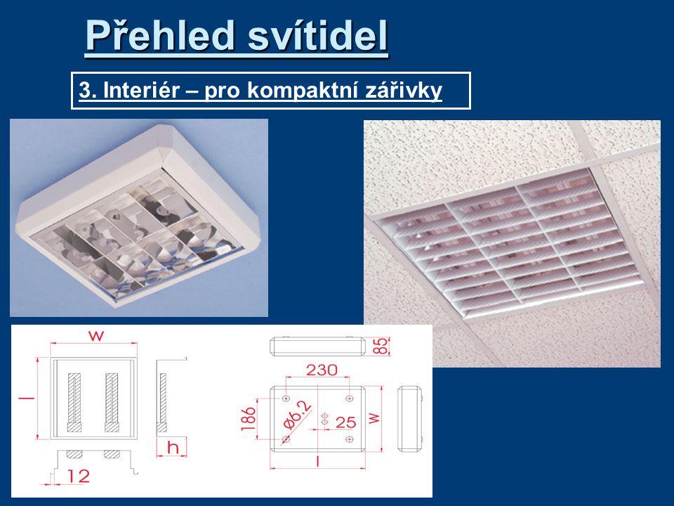 3. Interiér – pro kompaktní zářivky