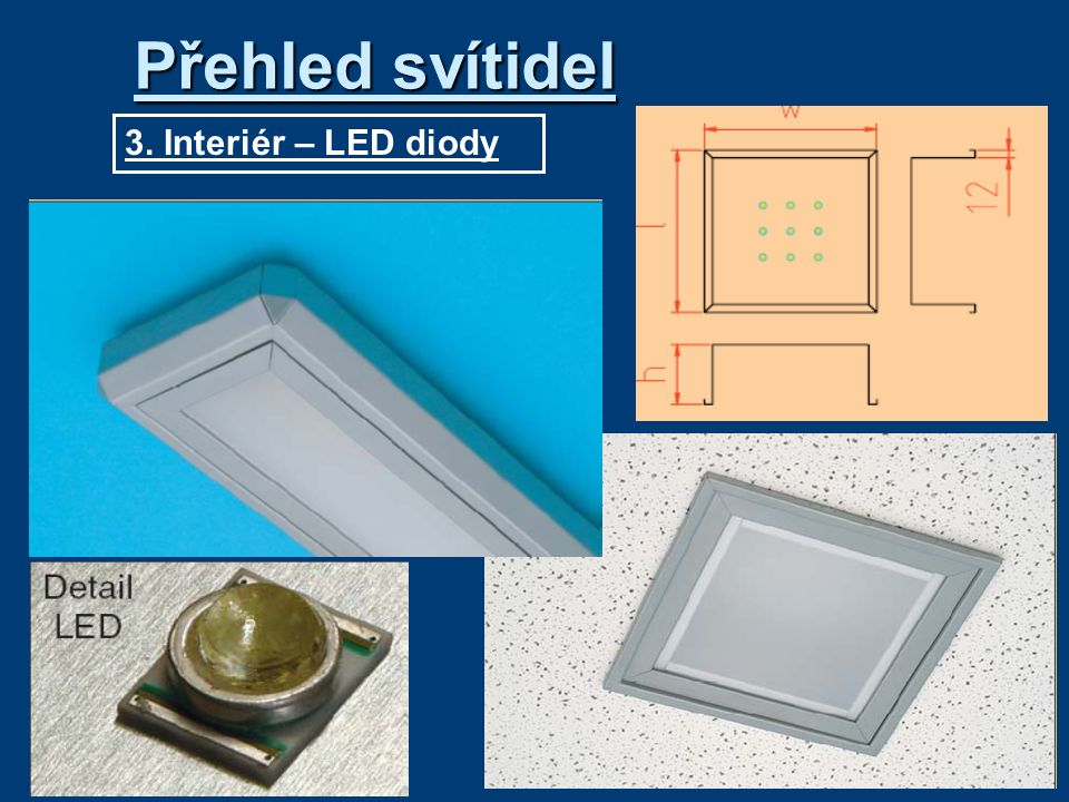 3. Interiér – LED diody