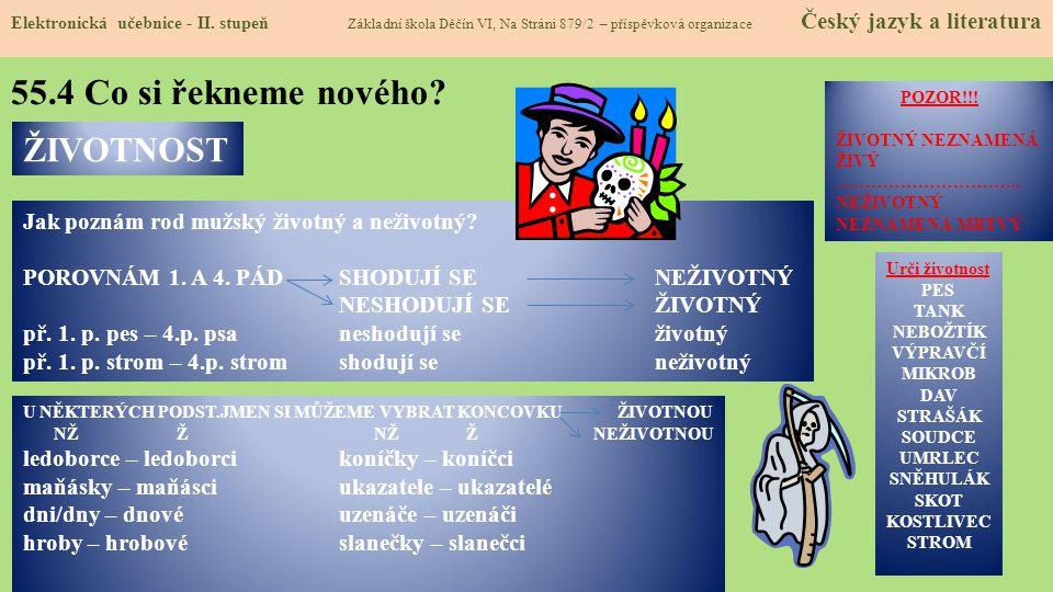 55.5 Procvičení a příklady Elektronická učebnice - II.