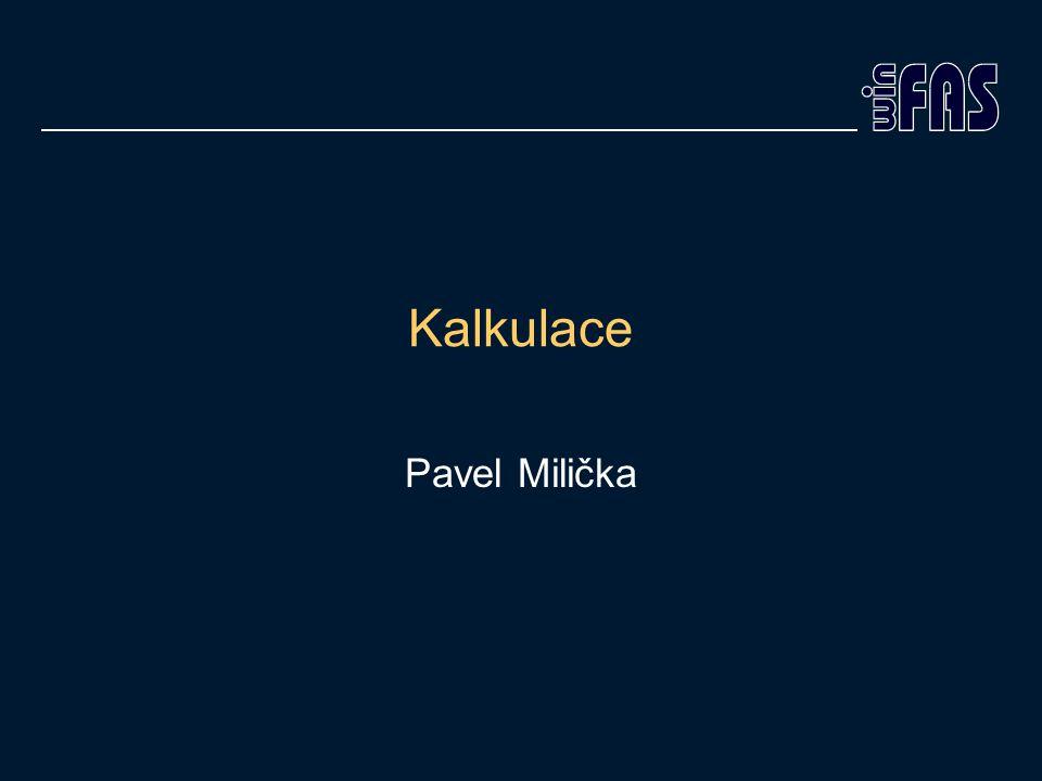 Kalkulace Pavel Milička