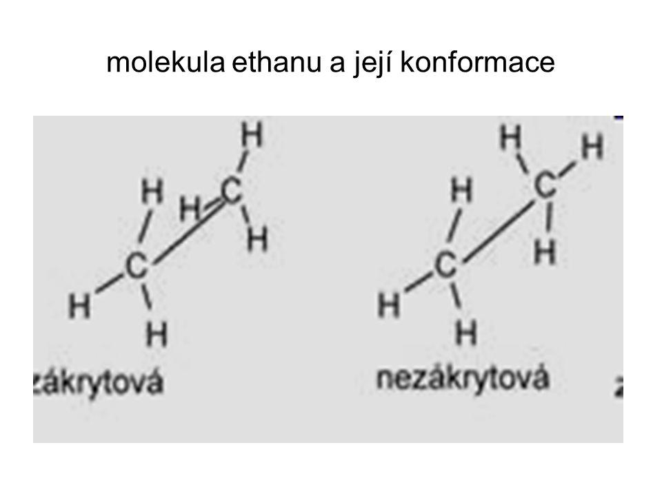 molekula ethanu a její konformace