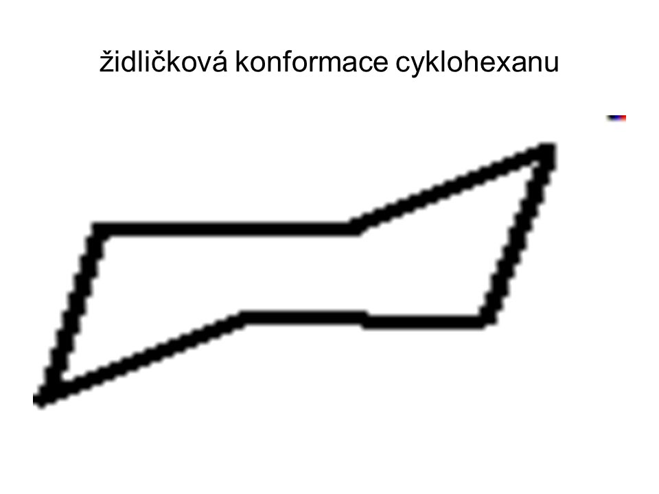 židličková konformace cyklohexanu