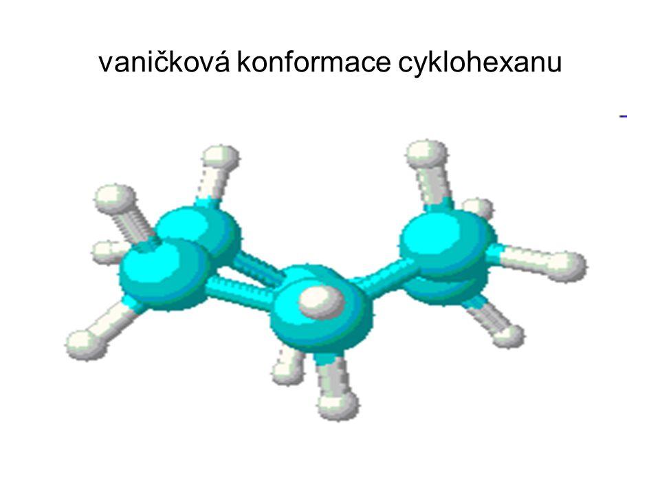 vaničková konformace cyklohexanu