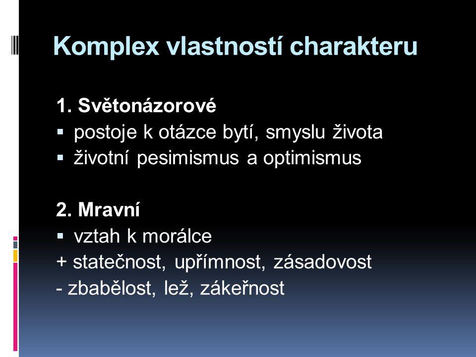 Komplex vlastností charakteru 1.