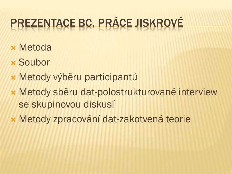  Kódování  Výsledky  Kategorie  Vztahy mezi kategoriemi  Diskuze výsledků