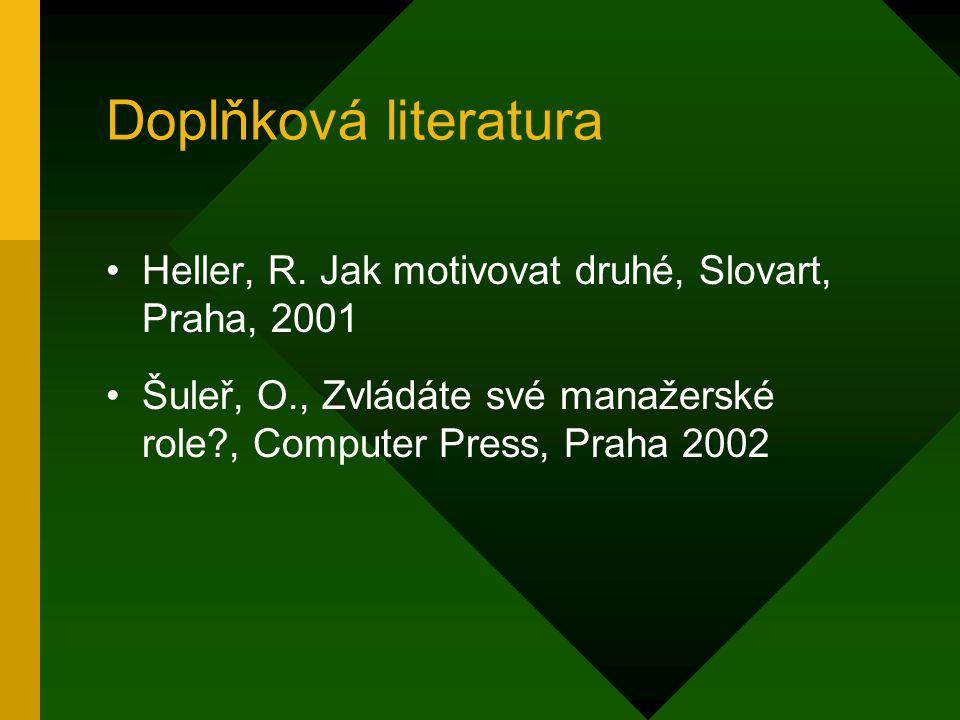 Doplňková literatura Heller, R.