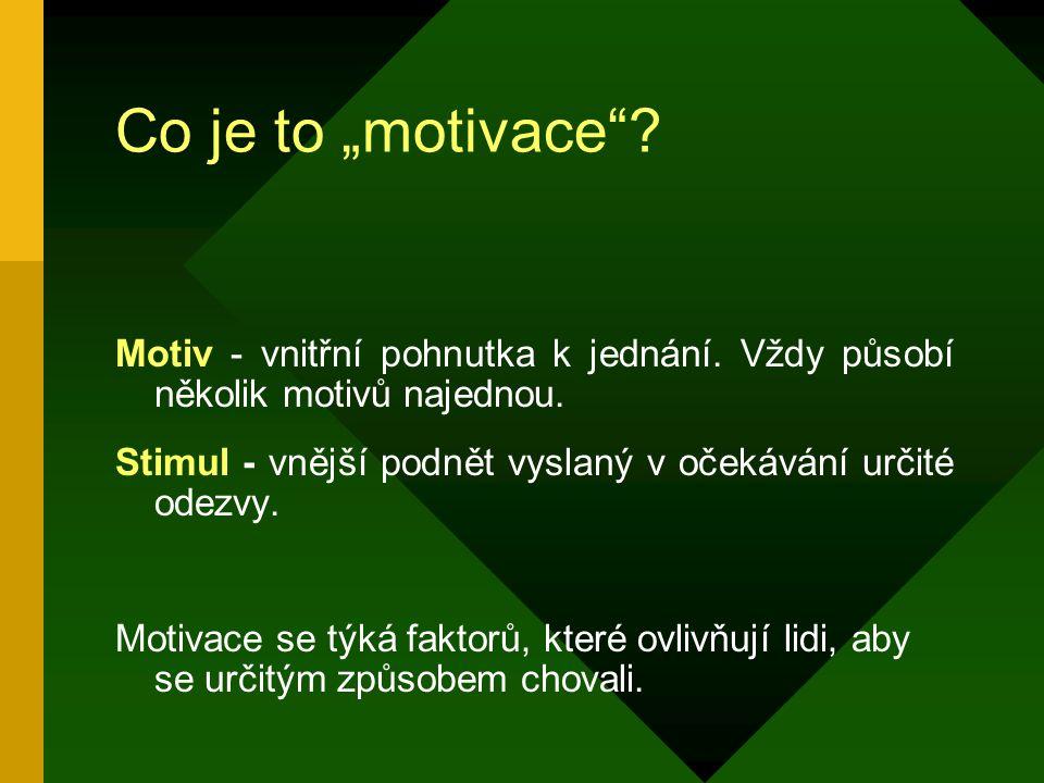 1.2 Hygienické a motivační faktory F.