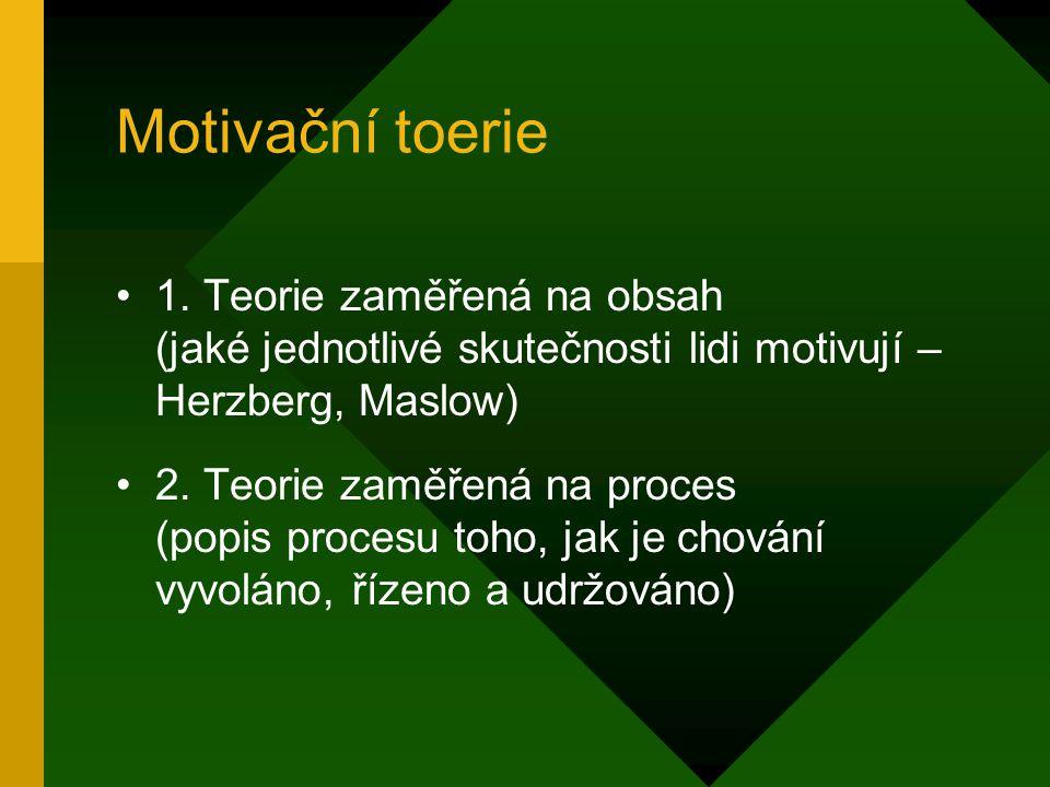 Motivační toerie 1.