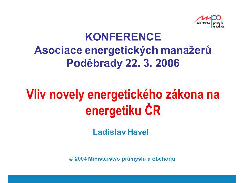  2004  Ministerstvo průmyslu a obchodu 2 Směrnice 2003/54 ES KAPITOLA II - OBECNÁ PRAVIDLA PRO ORGANIZACI ODVĚTVÍ - Článek 3 Povinnosti veřejné služby a ochrana zákazníka Členské státy z důvodu dosažení konkurenčního, bezpečného a ekologicky udržitelného trhu s elektrickou energií nerozlišují z hlediska práv, ani povinností mezi energetickými podniky.