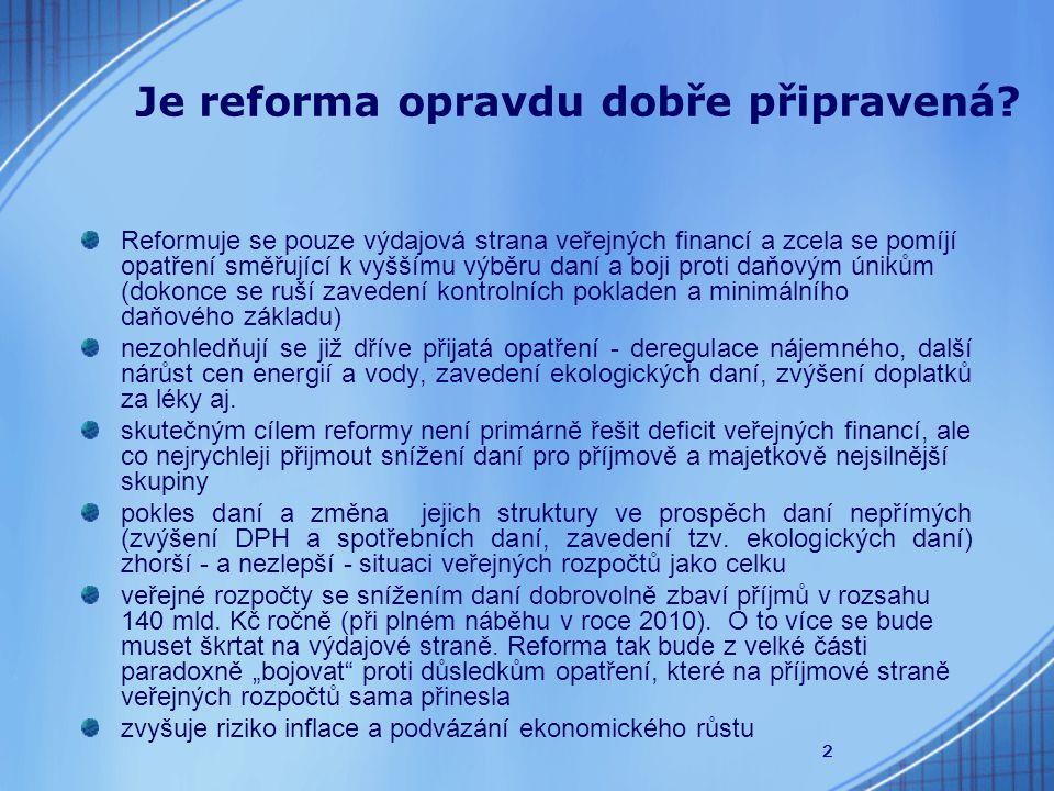 2 Je reforma opravdu dobře připravená.