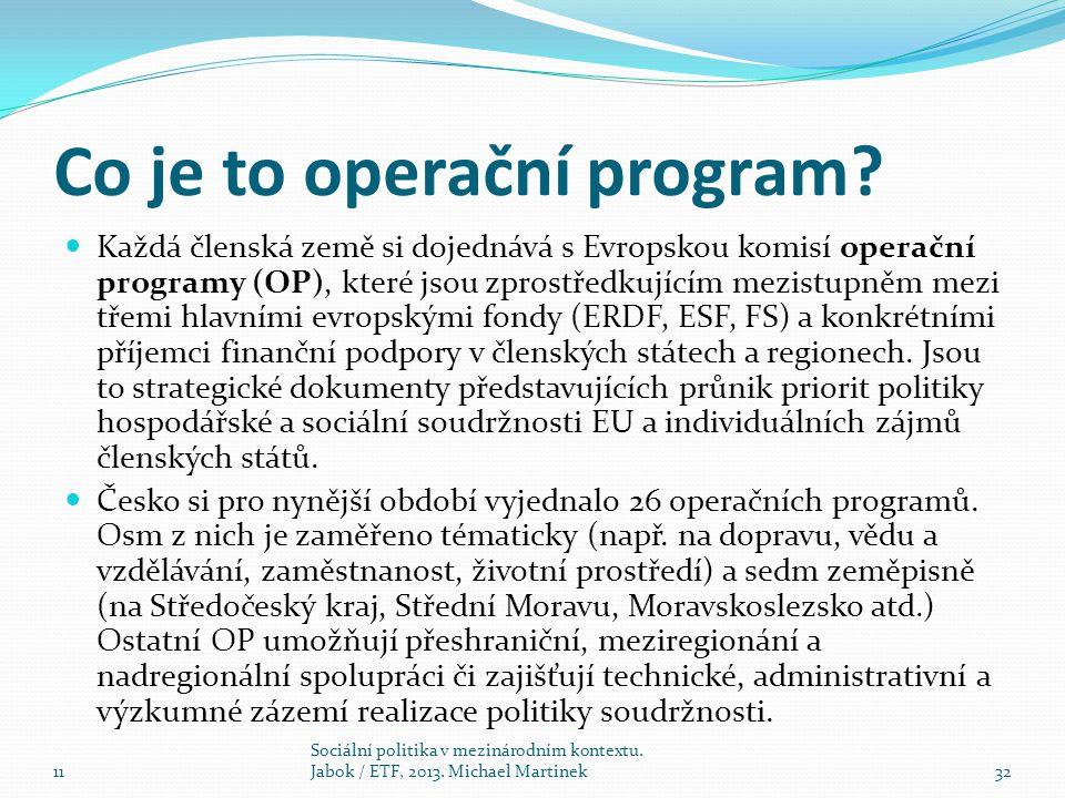 Co je to operační program.