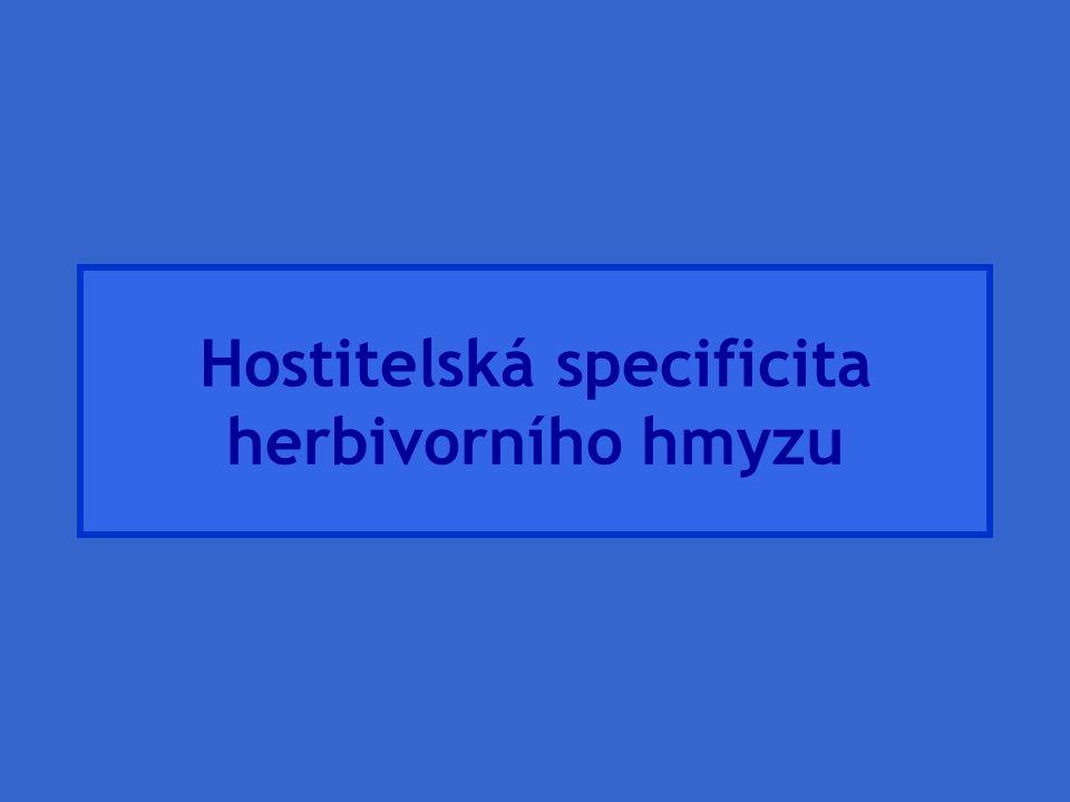 Hostitelská specificita herbivorního hmyzu