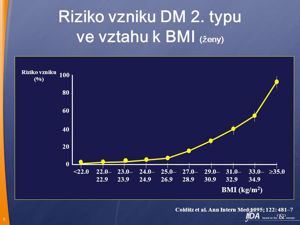 5 Riziko vzniku DM 2.