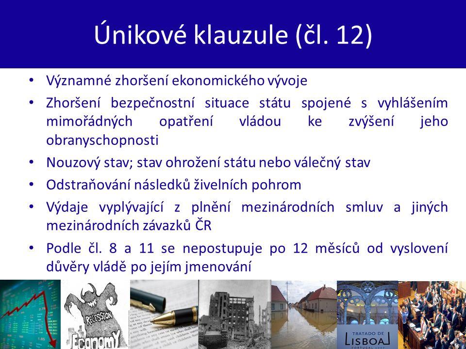 Únikové klauzule (čl.