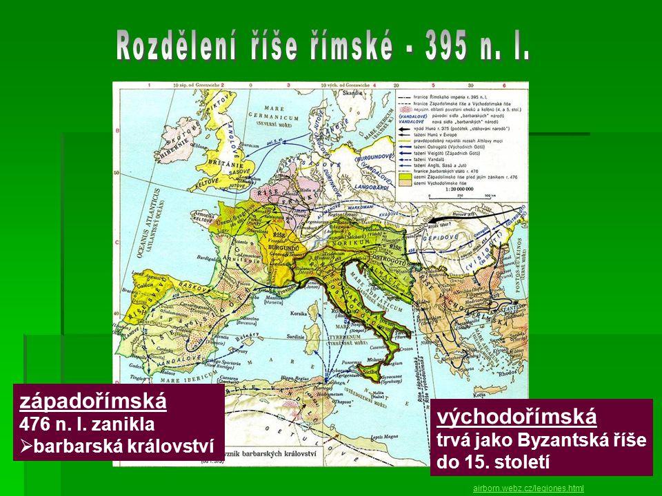 airborn.webz.cz/legiones.html západořímská 476 n.l.