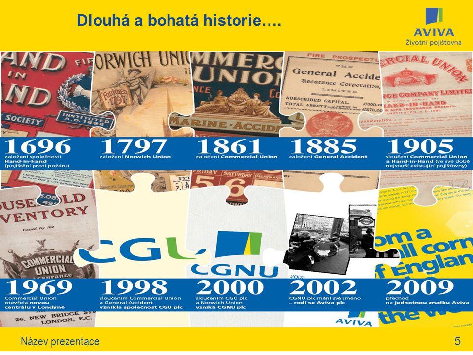 5Název prezentace Dlouhá a bohatá historie…. Xxx