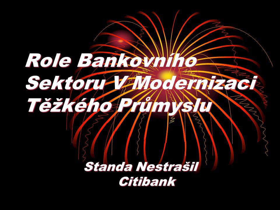 Role Bankovního Sektoru V Modernizaci Těžkého Průmyslu Standa Nestrašil Citibank Citibank
